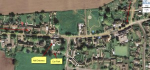 Little Budworth Village Hall Location Map